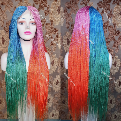 Wig NIKKI Rainbow Twist Braids Wig