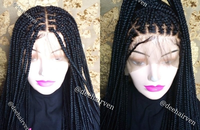 Full lace box braids braided wig