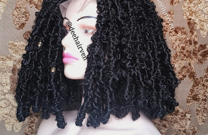 Butterfly distressed faux locs