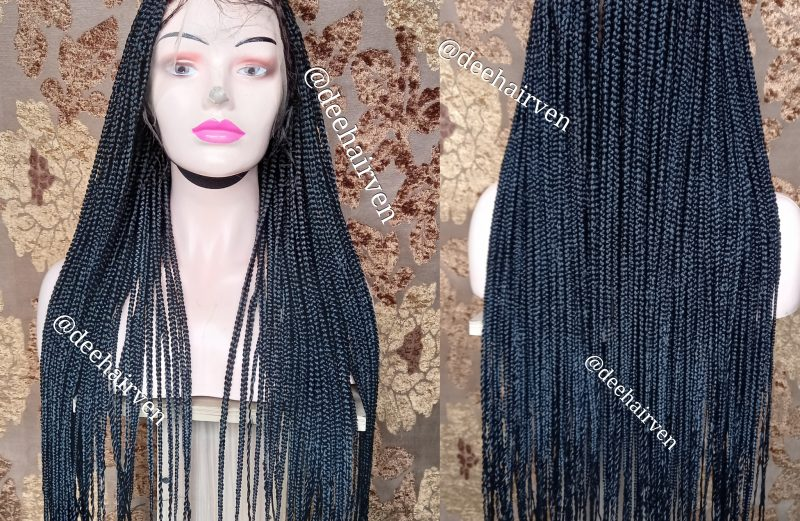 Full lace box braids braided wig