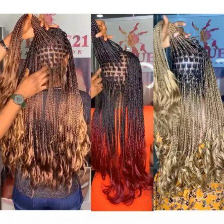 Curly braiding hair, human hair texture